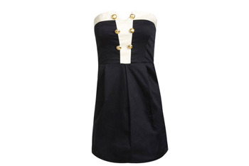 Gold button tube dress, $24, at Wet Seal