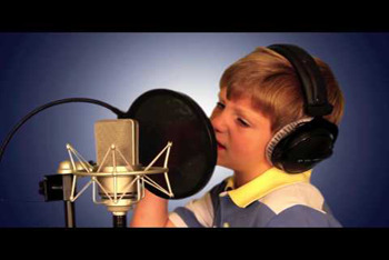 MattyB recording a rap