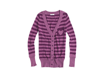 Emilina heart cardigan, $14.99, at Delias.com