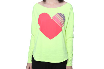 Striped heart shirt, $11.80, at Forever 21
