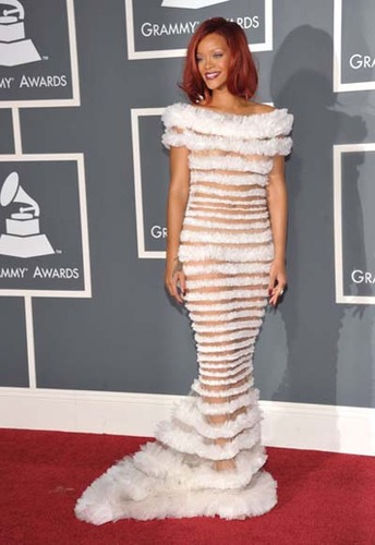 Rihanna at the Grammy's