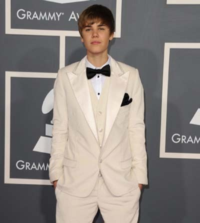 Justin Bieber at the Grammy's