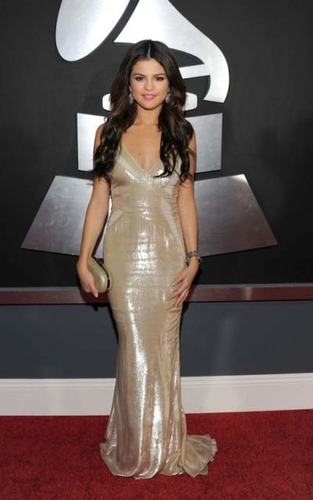 Selena Gomez sparkled on the red carpet at the 2011 Grammy Awards