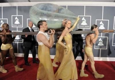 Lady Gaga at the Grammy's