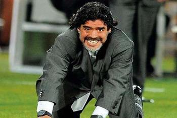 Maradona coaching Argentina