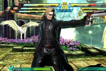Marvel vs. Capcom 3 screenshot wesker gun