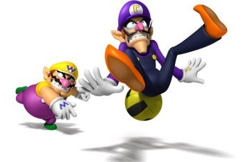 Mario Sports Mix dodgeball with Wario and waluigi