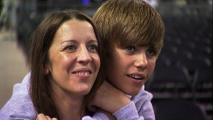 Justin Bieber with His Mom