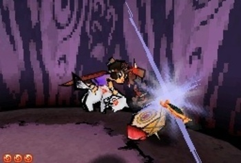 Okamiden screenshot battle fighting