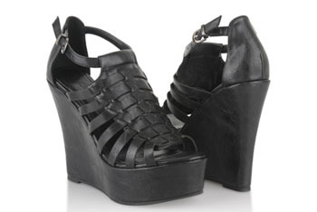 Basketweave leatherette wedges, by Forever 21, $26.80