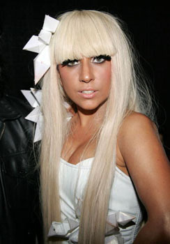 A demure Lady Gaga hair look