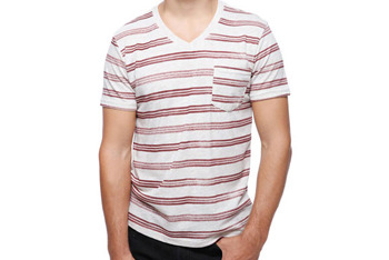 Faded stripe shirt, $14, at Forever 21