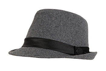 Grey fedora hat, $15, at Garage Clothing