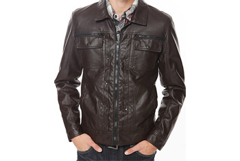 Leatherette jacket, $27, American Eagle