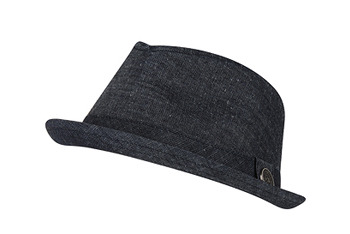 Denim fedora hat, $14, at American Eagle