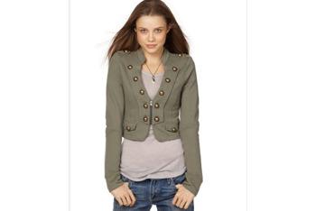 Military jacket, $27, at Macy's