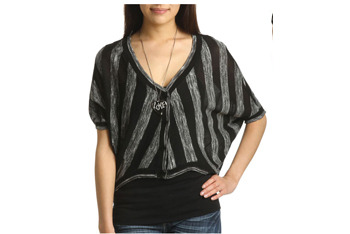 Stripe sweater, $22.80, at Wet Seal