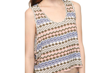 Fair isle knit top, $12.80, at Forever 21