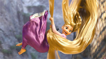 Mandy Moore voices the character of Rapunzel