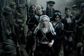 "ABBIE CORNISH as Sweet Pea, JENA MALONE as Rocket, EMILY BROWNING as Babydoll, SCOTT GLENN as Wise Man, VANESSA HUDGENS as Blondie and JAMIE CHUNG as Amber in Warner Bros. Pictures' and Legendary Pictures' epic action fantasy ""SUCKER PUNCH,"" a War"
