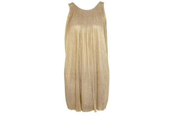 Gold foil pleated dress, $70, at MissSelfridge.com