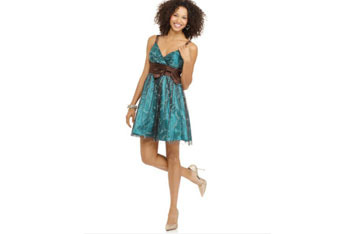 Morgan dress with bow tie, $35, at Macys.com