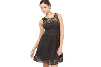 Lace overlay cocktail dress, $64, at FredFlare.com