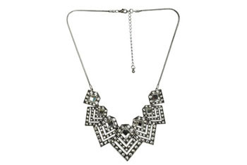 Geometric stone necklace, $29, at Ardenb.com