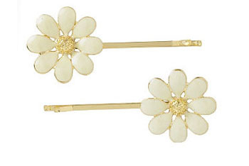 Pretty flower bobbies, $6, at NewLook.com
