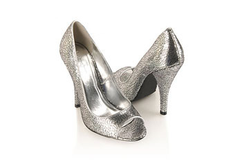 Crackled metallic heels, $19.80, at Forever21.com