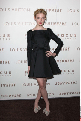 Elle wearing Valentino at a movie premiere