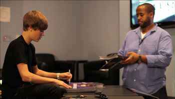 Justin with Kenny