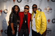 Quincy Brown with his Mom and Stepdad--Kim Porter and P.Diddy!