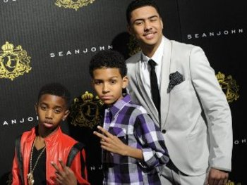 Quincy with his younger brothers, Justin Dior and Christian