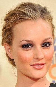 Leighton Meester does peach!