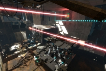 Portal 2 screenshot lasers
