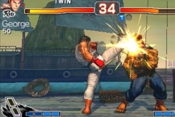 Super Street Fighter IV 3D Ryu kick akuma