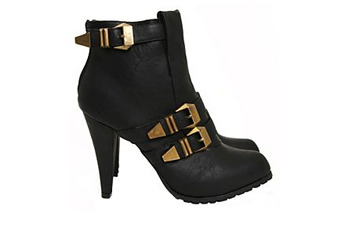 Buckle strap booties, $39.99, Hot Topic