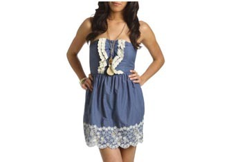 Ruffle dress, $24, WetSeal.com