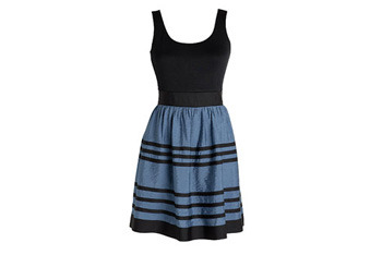 Color block dress, $34, Delias.com