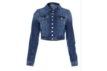 Cropped denim jacket, $25, Forever21.com