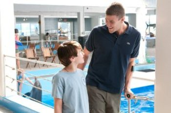 NATHAN GAMBLE as Sawyer Nelson and AUSTIN STOWELL as Kyle