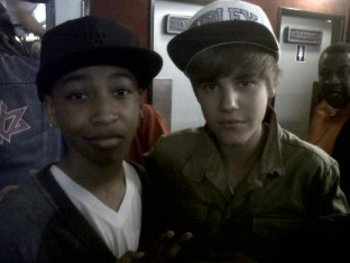 Jacob hanging with Justin Bieber