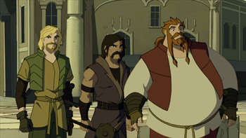 The Warriors Three: Fandral, Hogun and Volstagg