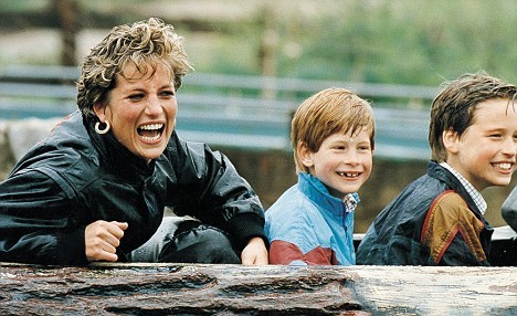 Princess Diana and her boys