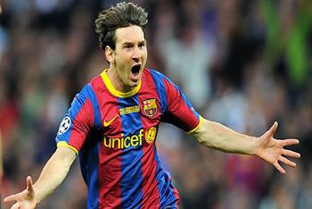 Messi celebrates his goal!