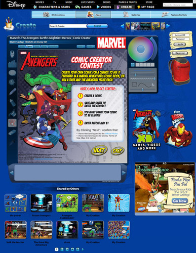 Marvel The Avengers: Earth's Mightiest Heroes Comic Creator Contest