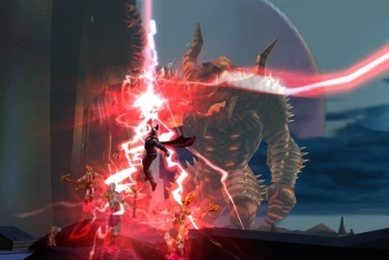 Thor: God of Thunder screenshot red lightning on boss
