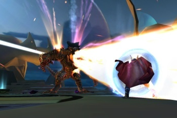 Thor: God of Thunder screenshot defense beam attack