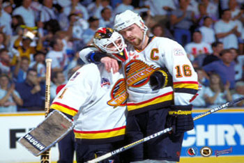 Kirk McLean and Trevor Linden